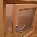 Деревянное окно банное. др Производство со стеклопакетом уплотнителем, Новосибирск