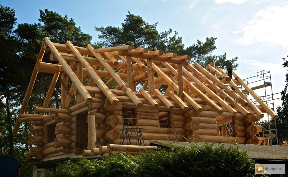 страшная фото домов из бревна ручной рубки лиственница можно