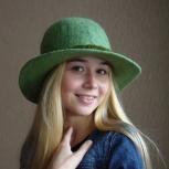 Шляпа женская осенне-зимняя фисташковая 56-57р, Новосибирск
